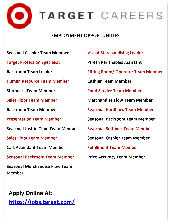 target has job openings alderman jason c ervin target has job openings
